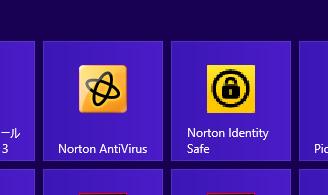 Windows 8での表示
